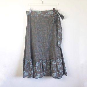 Sundance Maxi Ruffle Wrap Skirt Size 10